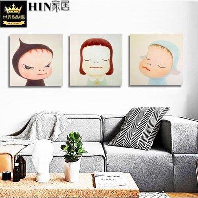 現代客廳沙發背景墻餐廳 掛畫  壁畫 無框畫 裝飾畫  奈良美智 夢游娃娃 igo
