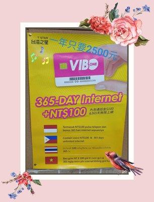 台灣之星4G預付卡期限一年 內含4G網路吃到飽不降速+100元通話金,本國人,外籍人士都能申辦