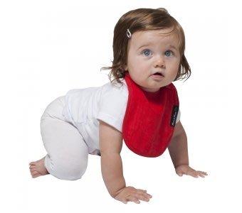 紐西蘭 Mum 2 Mum 機能型神奇口水巾圍兜-初生款-紅 吃飯衣 口水衣 防水衣