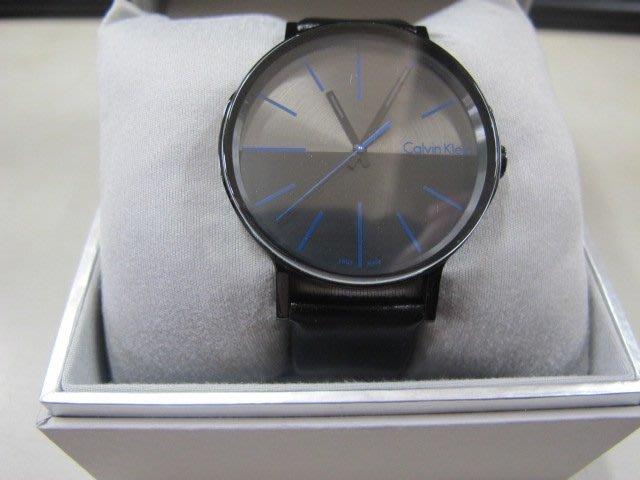 二手舖 NO.2533 原裝正品 Calvin Klein 經典款 ck手錶 簡約皮帶大錶盤