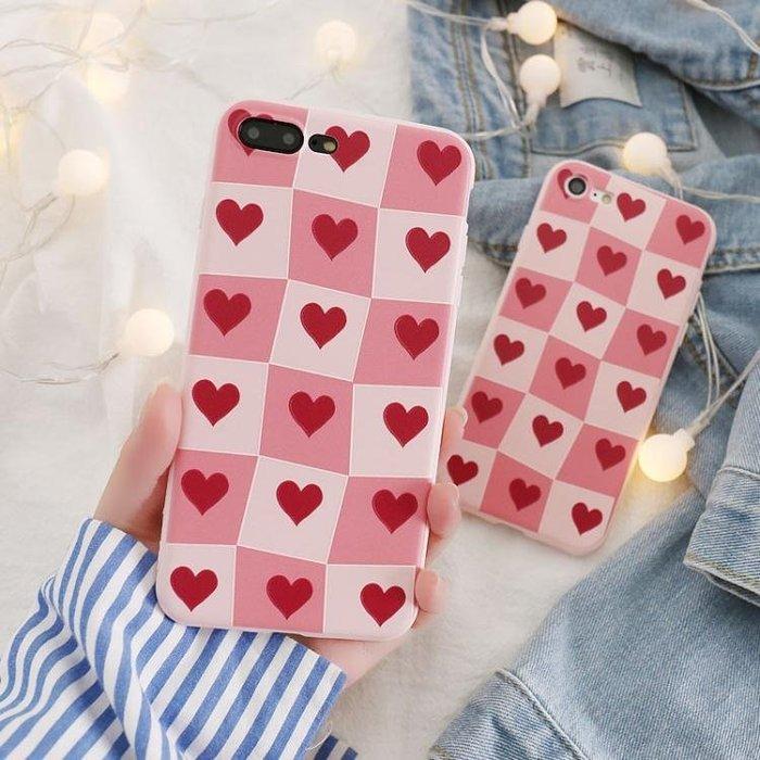 iphone7蘋果6s手機殼6plus硅膠全包軟殼5s女款防摔浮雕8X愛心掛繩