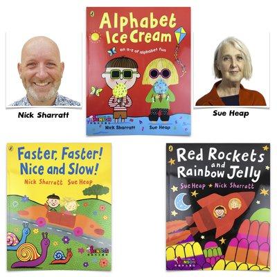 [邦森外文書] Nick Sharratt & Sue Heap 童書的夢幻組合 聯手打造充滿樂趣的英文學習書