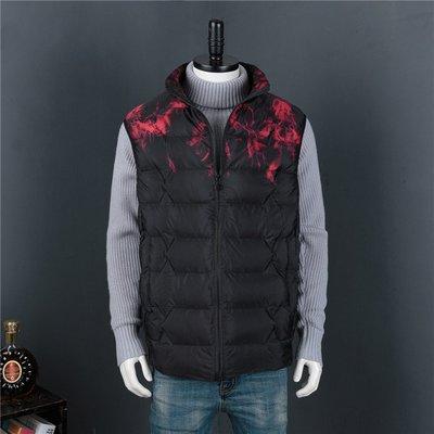 大尺碼男裝加大碼背心韓版羽絨馬甲4XL-10XL時尚休閒寬鬆外套
