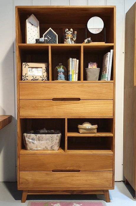 巴黎書櫃 ( BK-01-F ),全柚木,實木傢俱,柚木家俱