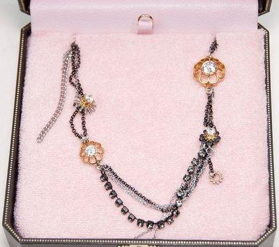 出清特價$1799 Juicy Couture 花卉造型鍍金長項鍊 全新真品買到賺到