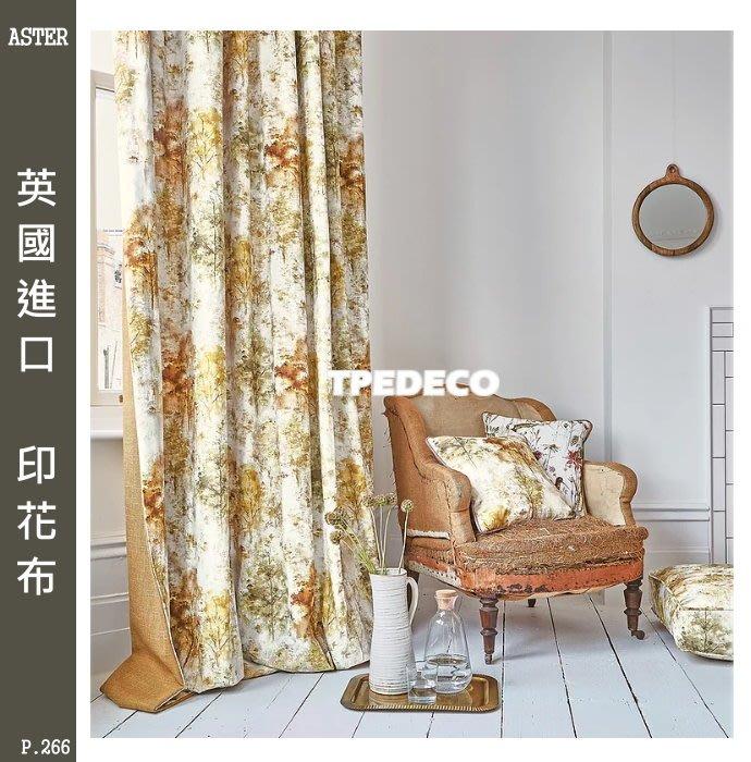 【大台北裝潢】雅傢飾布 窗簾布 英國進口 印花布 秋意濃 秋樹 P266
