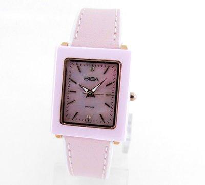 【 幸福媽咪 】網路購物、門市服務 BIBA 碧寶錶 陶瓷框 皮錶帶 石英女錶 粉色 B31PC022P 新北市