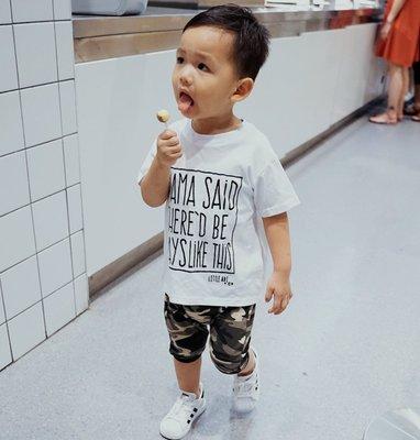 【Mr. Soar】 C364 夏季新款 歐美style童裝男童潮牌風短袖T恤 現貨