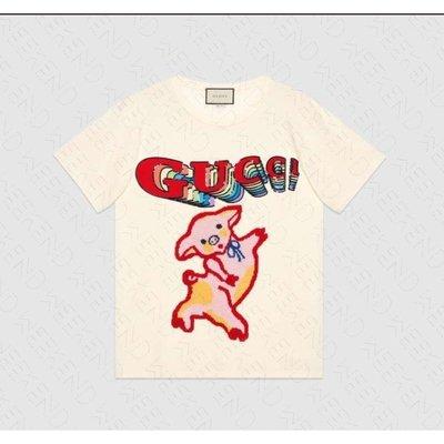 GUCCI Piglet 小豬 豬年 短袖 上衣 T恤 米白色 19春夏 492347