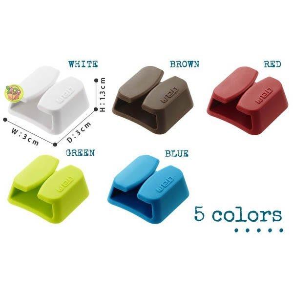 【JPGO日本購】日本進口 山崎實業 3C線材 USB線耳機線 web集線器~四入 紅色#120 / 棕色#113