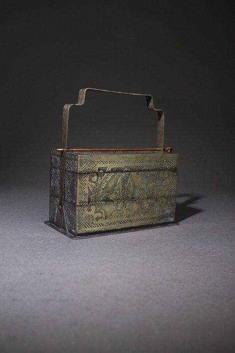 悅年堂 --- 白銅 人物故事圖 文房 提盒