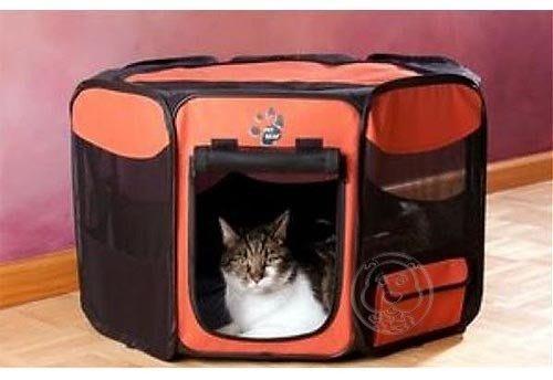 【🐱🐶培菓寵物48H出貨🐰🐹】美國《PET GEAR》八角形摺疊寵物籠(小) 6種顏色 特價1200元(限宅配)