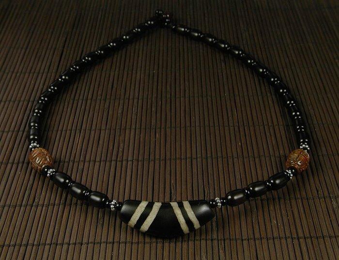 藏珠物流中心**專櫃品*A級羊角天珠*項鍊**E408