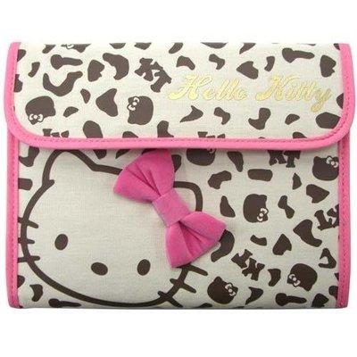 *小容容*日本進口 Hello Kitty 豹紋款 母子手帳 存摺/護照收納/多功能收納包 可放媽媽手冊