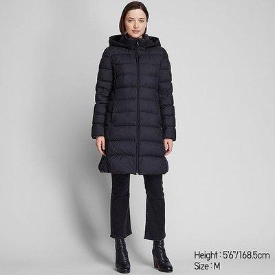 uniqlo 女裝 特級極輕羽絨外套 長版 連帽大衣 3XL