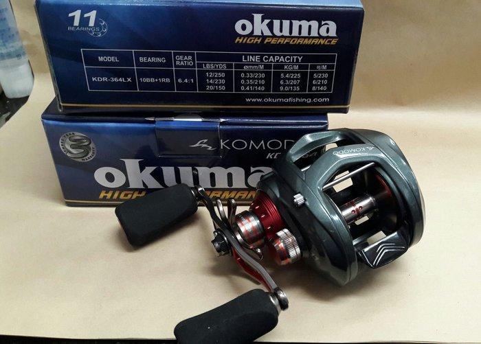 【欣の店】OKUMA 科莫多 KOMODO KDR-364LX 左手 左手 高級 擬餌拋投 捲線器 海水 大龜