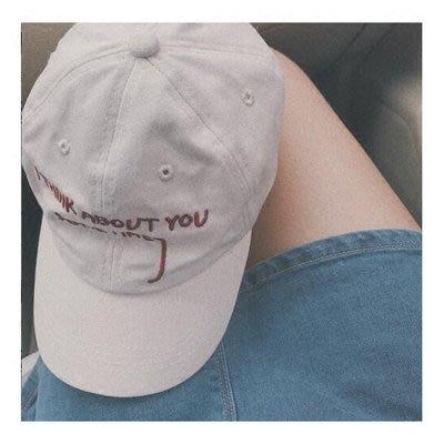 韓國ulzzang帽子女夏chic白色遮陽鴨舌帽ins棒球帽