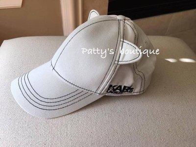 《Patty》代購 karl lagerfeld 白色貓咪棒球帽 現貨在台