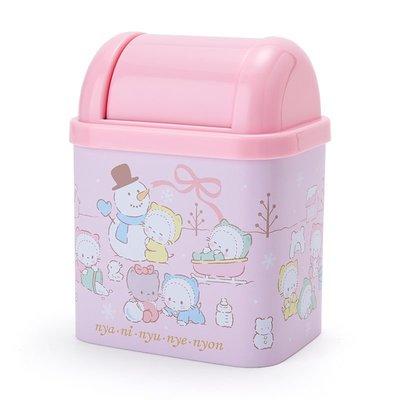 Sanrio nya ni nyu nye nyon 日本版 桌上迷你 垃圾桶仔 聖誕冬日案圖 (包本地郵局自取)