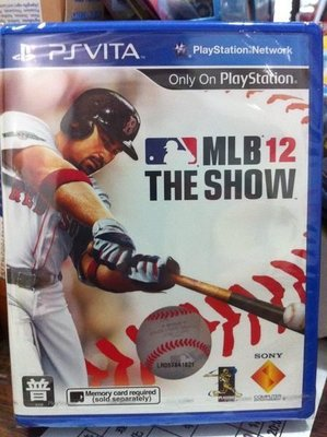 """""""毛毛的窩"""" PSVITA MLB12 THE SHOW 棒球(英文亞版) ~保證全新未拆!"""
