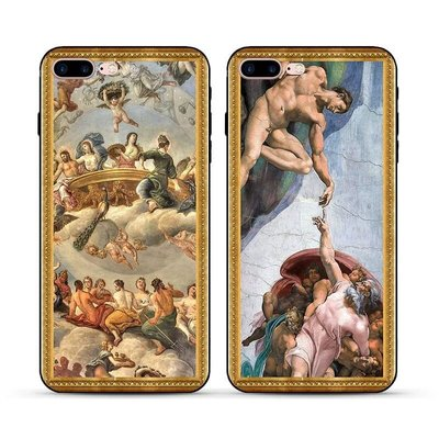 義大利名畫iphone x畢卡索世界名畫油畫框d&g藝術G情侶款apple6手機殼iP8/7米蘭6s羅馬plus/5軟殼ysl muji