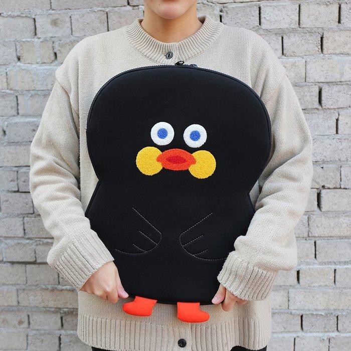 ❅PAVEE❅ 韓國Romane~ Brunch Brother Pouch 小鴨 刺繡13吋筆電包文件包電腦包