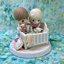 Precious Moments 陶瓷公仔 BB 初生 嬰兒 BB床