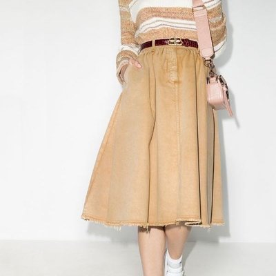 Golden Goose flared denim skirt 女洗舊單寧圓裙 限時超低折扣代購中