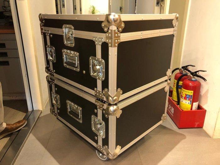 【六絃樂器】全新航空瑞克箱 12U 兩節式混音器三開機櫃 / 舞台音響設備 專業PA器材