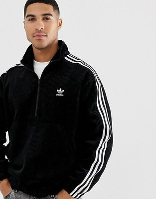 代購adidas Originals jacket with half zip立領套頭絨布款夾克外套S-2XL