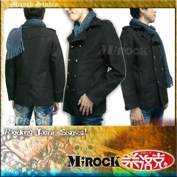MIROCK米洛克》限時↘特賣!日本高質感雙排釦厚綿短刷毛呢西裝外套式黑褐色短大衣 保暖修身款 緞面防風內裡 筆挺百搭