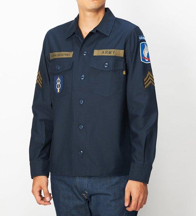 ☆AirRoom☆【現貨】日版 ALPHA SHIRTS WAPPEN 深藍 襯衫 口袋 TS5021-004