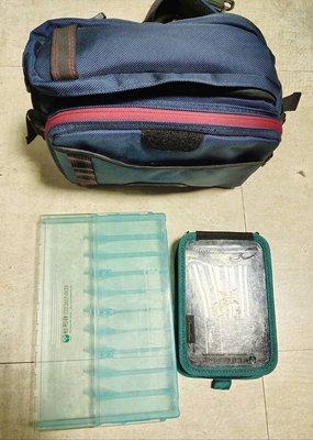 日本帶回 DAIWA 木蝦隨身腰包 加送二手明邦木蝦盒10入及DAIWA木蝦包