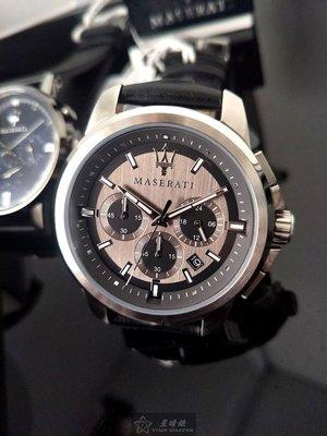 請支持正貨,瑪莎拉蒂手錶MASERATI手錶SUCCESSO款,編號:MA00240,黑色錶面黑色皮革錶帶款