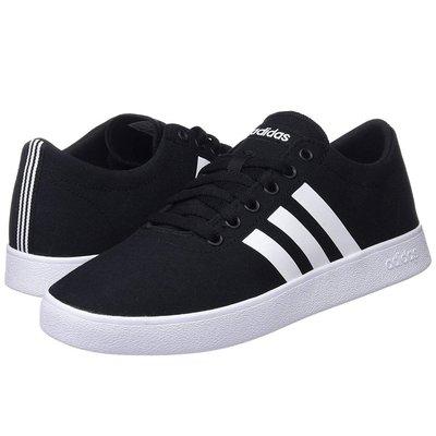 =E.P=ADIDAS EASY VULC 2.0 休閒鞋 布面 黑白 男版 帆布鞋 DB0002