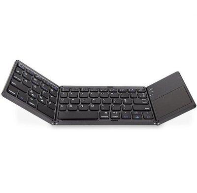 三系統通用三折疊帶觸摸板平板鍵盤 手機電腦鍵盤 折疊迷你鍵盤11445