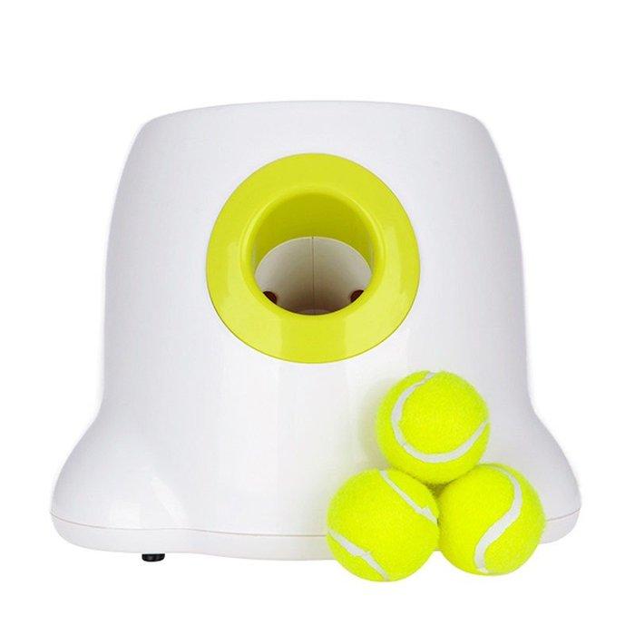 5Cgo【樂趣購】 狗狗玩具自動發球機網球發射器拋球智慧玩具寵物用品迷你版網球發射機 598724478539
