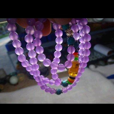 薰衣草紫玉髓 108顆佛珠 6mm 珠子項鍊