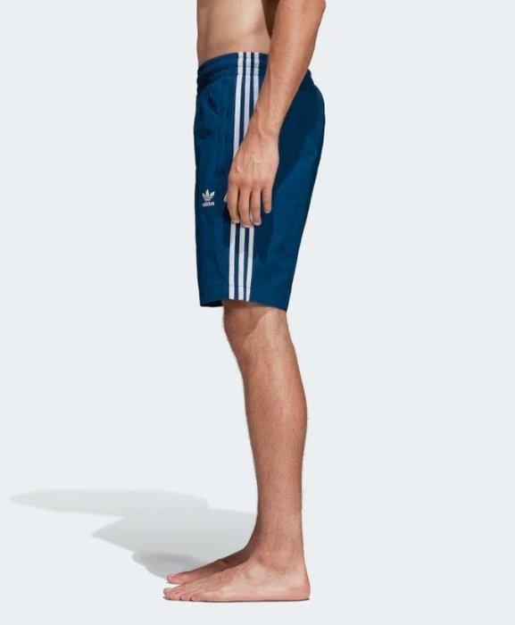 【豬豬老闆】ADIDAS SWIM SHORTS 風褲 三線 口袋 短褲 男款 藍 DV1578 紅 DV1585