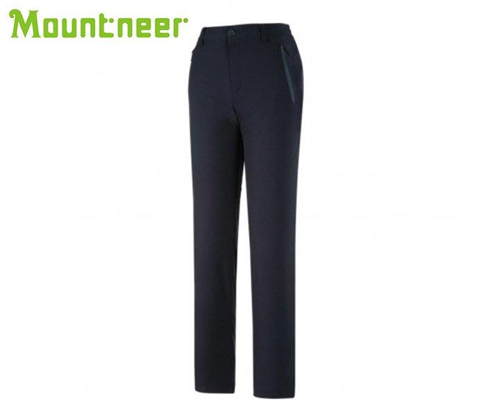 丹大戶外【Mountneer】山林休閒 女彈性防風保暖窄管褲 32S12-85丈青