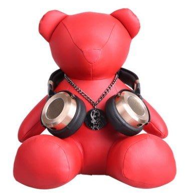 【奇滿來】時尚可愛的1 more 萬魔熊 頭戴式耳機掛架 可收藏亦可當展示架 耳機架耳麥掛架 做工精細 紅色款 ALAX