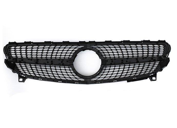 D18121202 BENZ W176 AMG 運動款 亮黑 滿天星 1:1 高品質 水箱罩