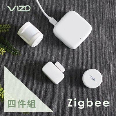 【超值組1+1】VIZO Zigbee網關+人體+門窗+溫溼度感應器