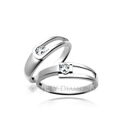 《JELY時尚館》【JELY Diamond】Perfect Love(對戒)---10分真鑽石戒指 §會員獨享交換維修優惠§