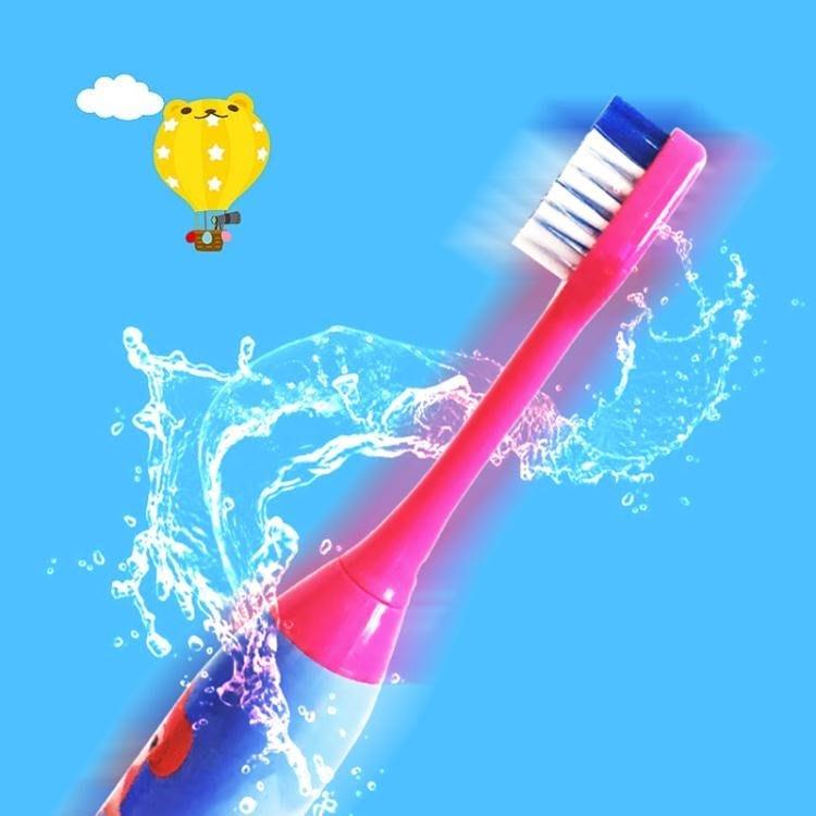 可愛兒童卡通防水聲波震動電動牙刷家用適合5-16歲兒童--潮流前線