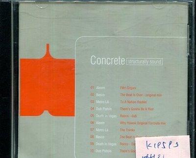 *真音樂* CONCRETE / STRUCTURALLY SOUND 二手 K19593 (缺封底)