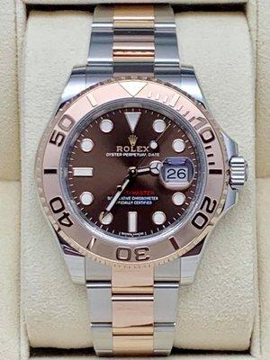重序名錶 ROLEX 勞力士 Yacht-master 116621 遊艇名仕 巧克力色面盤 玫瑰金半金款 自動上鍊腕錶