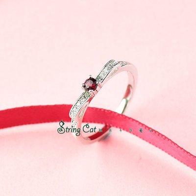 【String Cat】《專屬》925純銀天然寶石戒指 鎂鋁石榴石 情人節/閨蜜禮物 輕珠寶