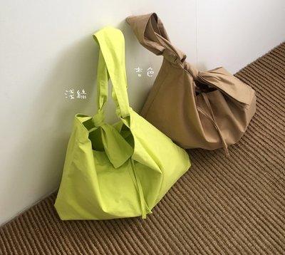P10100韓國 送子鳥 綁帶包 打結包 手提 帆布 購物袋 側肩背包 特價380元
