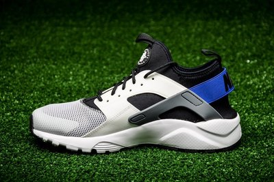 "Nike Air Huarache Run Ultra Breathe 耐克""White/Racer Blue復古 武士慢跑鞋 819685-100 男"